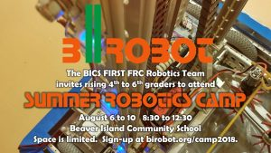 bIrobot Robotics Summer Camp @ Beaver Island Community School