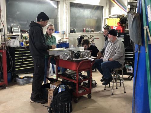 workshop people building robots