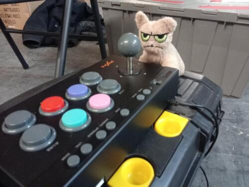 One of our mascots isn't too happy with our 2019 control panel.