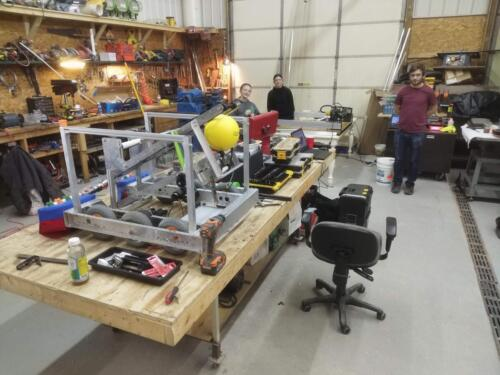 2020 Robot SkipJack Betty under construction in the Roberts John Service garage.