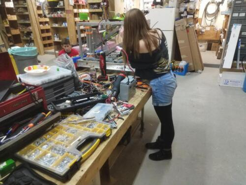 Hard at work in the shop.