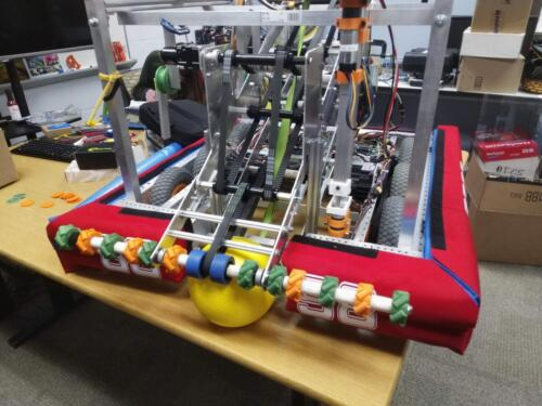 Our completed, but uncompeted, 2020 Robot named SkipJack Betty in honor of three team supporters who passed away.