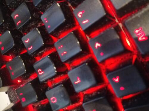 Clicky, clacky keyboard with backlights is just cool.